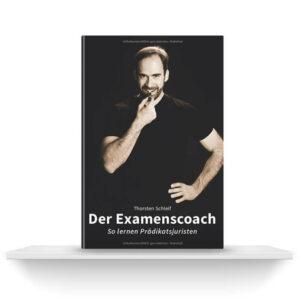 Der Examenscoach | Buch auf Regalbrett | Thorsten Schleif