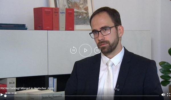 Richter rechnet mit deutscher Justiz ab | Video | Thorsten Schleif