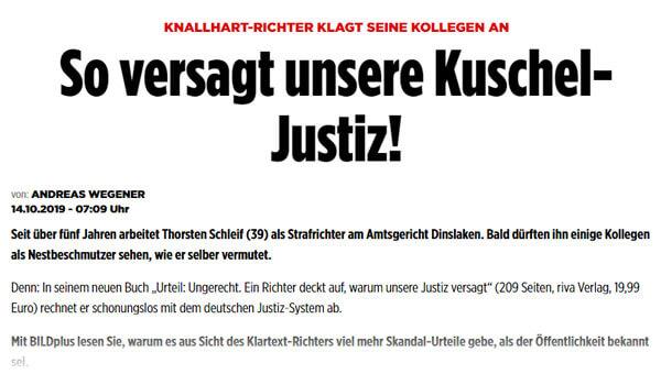 So versagt unsere Kuschel-Justiz | Pressebericht | Thorsten Schleif