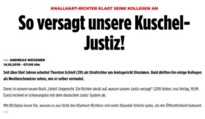 So versagt unsere Kuschel Justiz | Pressebericht | Thorsten Schleif